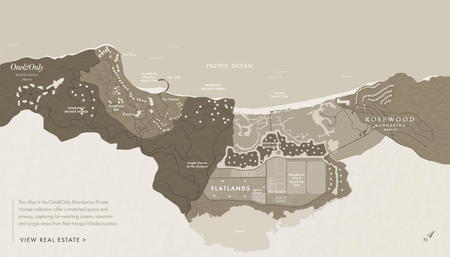 Map of Mandarina, Mexico